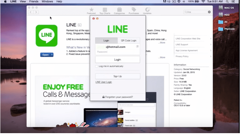 Line For Mac PC