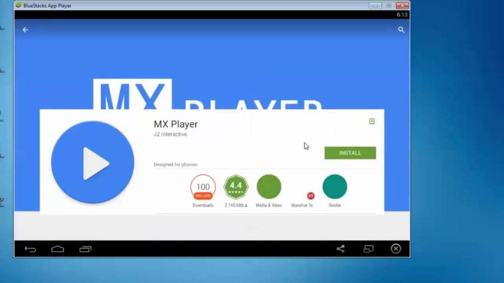 MX Player for PC Using Bluestacks